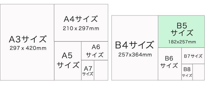 チラシサイズB5